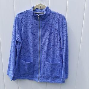 Denim & Co Blue Eyelit Jacket